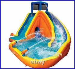 Banzai Sidewinder Falls Inflatable Water Park Play Pool Slide with Water Cannons