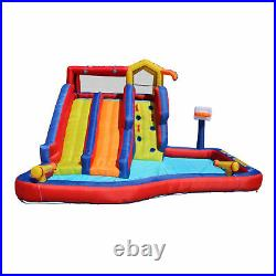Banzai Twin Falls Kids Giant Colorful Outside Inflatable Water Park Bounce House
