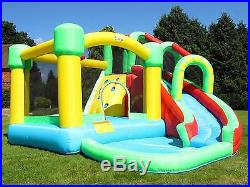 BeBop 8 in 1 Large Inflatable Kids Bouncy Castle Big Water Slide and Ball Pit
