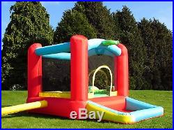BeBop Balloon Bouncy Castle for Kids with Slide and Ball Pit