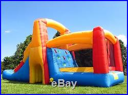 BeBop Kamikaze Bouncy Castle and Inflatable Slide with Electric Fan For Kids