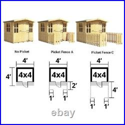 BillyOh 4ftx4ft Bunny Small Children Kids Wooden Playhouse