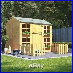 BillyOh Gingerbread Max Children Wooden Playhouse Outdoor Kids Wendy House 7x5