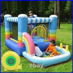 Bounce House Inflatable Kids Jumper Jump Bouncy Castle Outdoor Garden with Blower