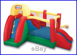 Bounce House With Slides Double Inflatable Bouncer Kids Party Game Backyard Fun