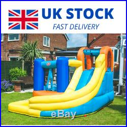 Bouncy Castle Funhouse with Pool & Slide Inflatable For Kids Summer Fun Outdoor