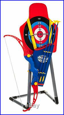 Bow & Arrow Archery Set Target Stand Kids Toy Outdoor Garden Fun Game Gift UK
