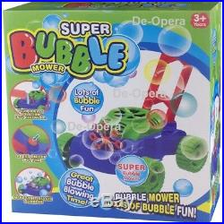 Bubble Blowing Lawn Mower Childrens Kids Auto Spill Proof Outdoor Garden Toys