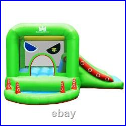 Castle Inflatable Bounce House With Water Slide Pool Outdoor Kids Fun Green New