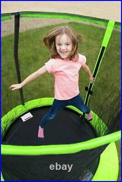 Chad Valley 6ft Outdoor Kids Trampoline with Enclosure Green