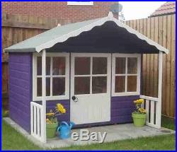 childrens garden playhouse kids play set outdoor wooden wendy house shed 6x5 new
