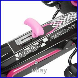 Childrens Kids Pedal Go-Kart 5-8yrs Inflatable Tyres Racing Car Ride-On Pink