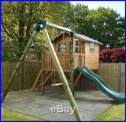 Childrens Wooden Playhouse Outdoor Tree House Slide Swing Tower Kids Play Centre