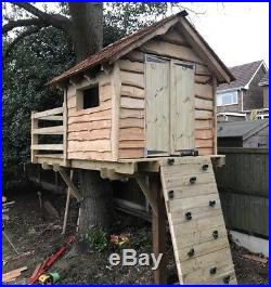 Childrens Wooden Playhouse Treehouse Tower Outdoor Play House Kids Garden House