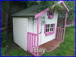Childrens kids outdoor wooden playhouse two story