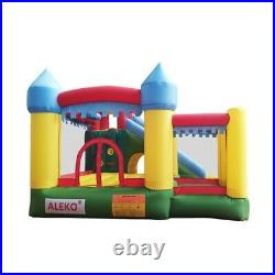 Commercial Inflatable Bounce House Kids Foldable Bouncy Castle Fun Built-in Pump