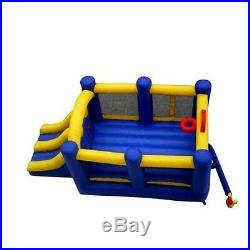 Commercial Kids Inflatable Bounce House Racing Double Slide Outdoor Fun Park