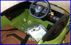 Deluxe Edition 4WD Official Lamborghini Sian 12V Kids Electric Ride On Car Green