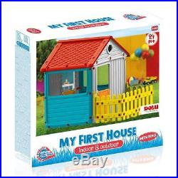 Dolu My First House with Fence Kids Playhouse Indoor Outdoor Pretend Play Toy 2+