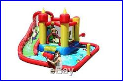 Duplay Jump and Splash 14ft Kids Bouncy Castle with Waterslide & Water Cannon