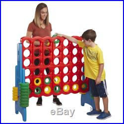 ECR4Kids Jumbo Four-To-Score Giant Game-Indoor/Outdoor 4-In-A-Row Connect