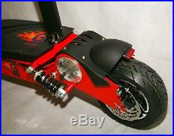 Electric E Scooter Powerboard Kids Adult Ride Sit On Adjustable EScooter RED