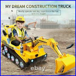 Electric Kids Ride On Digger Toy Car Sand Pit Tractor Excavator Rechargeable UK
