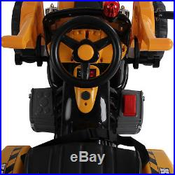 Electric Ride On Toy Digger Tractor Car Kids Riding 6v Battery Powered Wheels