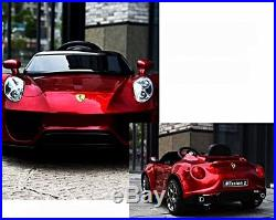 Ferrari style kids ride on electric car new 2018 12v battery remote control