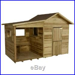 Forest 8x4 Kids Dixie Duo Wooden Children S Traditional Playhouse With Veranda