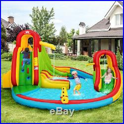 Garden Kids Inflatable Bouncy Castle Play House Outdoor 2 Slides Water Cannon