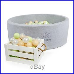 Gray Ball Pit with 200 High Quality Plastic balls For Baby Kids toy gift safe