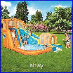 H2OGO! Hurricane Tunnel Blast Inflatable Kids Outdoor Water Park Pool with Slide