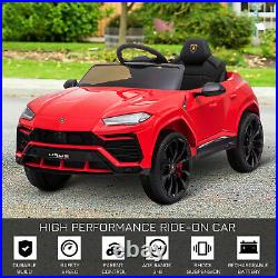 HOMCOM 12V Kids Electric Ride On Car Toy with Remote Control Music Lights Red