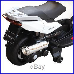 HOMCOM Electric Motorcycle for Kids Ride On Toy Bike in White