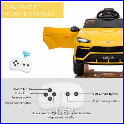 HOMCOM Lamborghini Urus 12V Kids Electric Ride On Car Toy with Remote Control
