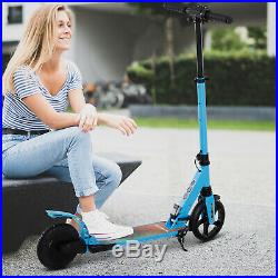 HOMCOM Teens Adult Electric Scooter Foldable withFlashing Light For Kid -Blue