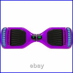 Hoverboard Purple 6.5 Inch Bluetooth Electric Scooters LED Kids Balance Board