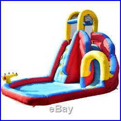 Inflatable Bouncy Castle Kids Bouncer Jumping House Play Fun With Slide & Ball Toy