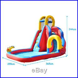 Inflatable Circle double Water Slide Bouncy Castle Kids Outdoor withClimbing Wall