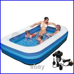 Inflatable Paddling Pool Garden Kids Fun Toys Family Swimming Pools Outdoor 120