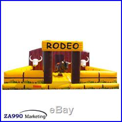 Inflatable Rodeo Mechanical Bull Sports Game Big Riding Machine With Air Blower