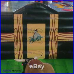 Inflatable Rodeo Mechanical Bull Sports Game Riding Red Eyes With Air Blower NEW