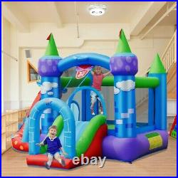 Inflatable Safety Three Play Areas Bounce House Kids Bouncy Castle Slide Blower