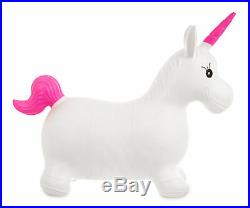 Inflatable Unicorn Space Hopper Jump Bounce Kids Outdoor Animal Ride On Toy Fun
