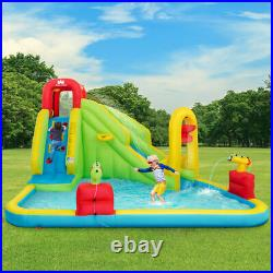 Inflatable Water Bounce Castle Kids Jump & Slide Bouncer Playhouse With Basketball