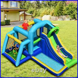 Inflatable Water Jumping House 5-in-1 Bouncy Castle Kids Play Slide Center