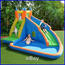 Inflatable Water Slide Bouncy Castle Kids Splash Outdoor withClimbing Wall