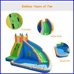 Inflatable Water Slide Bouncy Castle Kids Splash Outdoor withClimbing Wall New