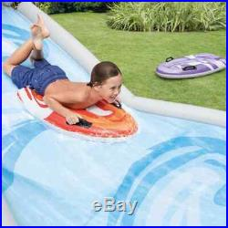 Inflatable Water Slide and Splash Pool for Kids Outdoor Play Center with Sprayer